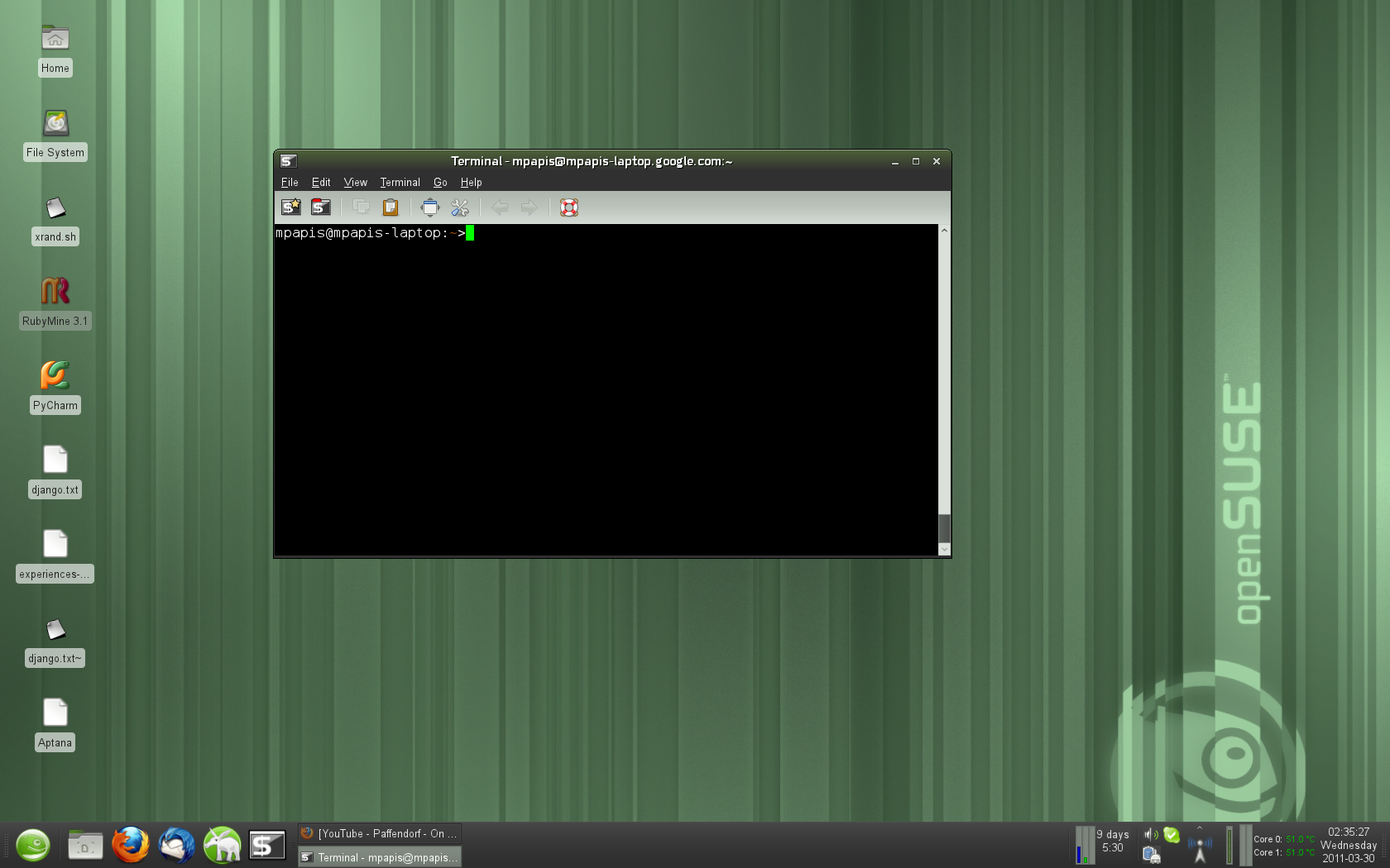 screenshot xfce